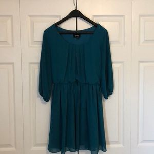 Turquoise 3/4 Sleeve Dress